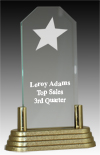 Jade Acrylic Rising Star Award with Brass Base