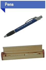 Custom engraved personalized ink pens for business advertising, personal or gift sets.