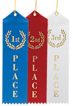 Award Ribbons - 1st, 2nd & 3rd Bulk Pac