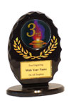 "5"" Oval 3rd Place Award"