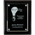 "9"" x 12"" Floating Acrylic Piano Black Plaque"