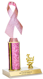 "10"" Pink Awareness Trim Trophy"
