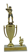 "10"" Baseball Cup Trim Trophy"