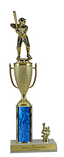 "14"" Baseball Cup Trim Trophy"