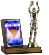 Basketball on Stage Plaque Trophy