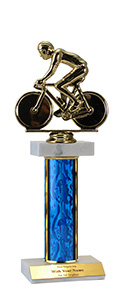 "12"" Bicycle Double Marble Trophy"