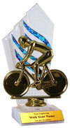 """Flames"" Bicycle Trophy"