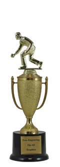 "12"" Bocce Ball Cup Pedestal Trophy"