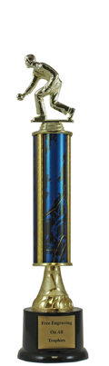 "14"" Bocce Ball Pedestal Trophy"