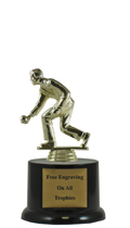 "6"" Pedestal Bocce Ball Trophy"