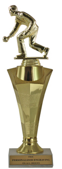 Bocce Ball Star Column Trophy