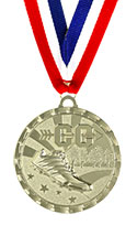 Bright Gold Cross Country Medal