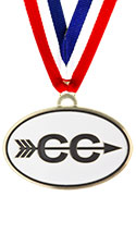 Cross Country Oval Running Medal
