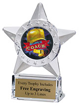 Coach Star Acrylic Award
