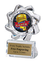 Coach Sunburst Acrylic Award