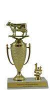 "8"" Cow Cup Trim Trophy"