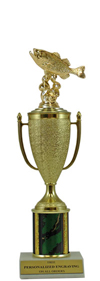 "11"" Fish Bass Cup Trophy"