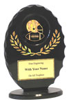 "6"" Black/Gold Oval Football Award"