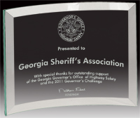 "4""x6"" Premier Glass Crescent Award"