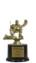 "6"" Pedestal Goalie Trophy"