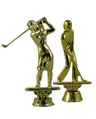 Golf Figurine - Metal - 5 1/2""