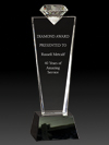 Crystal Diamond Pedestal Award