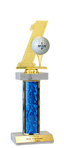"12"" Hole In One Double Marble Trophy"
