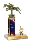 "9"" Jumping Horse Trim Trophy"