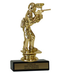 "6"" Paintball Economy Trophy with Black Marble base"