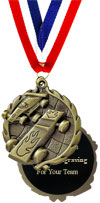 Engraved Pinewood Derby Medal