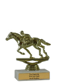 "5"" Racing Horse EconomyTrophy"