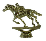 "3 3/4"" Racing Horse Figurine"
