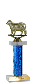"10"" Sheep Double Marble Trophy"