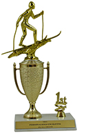 "10"" Cross Country Skiing Cup Trim Trophy"