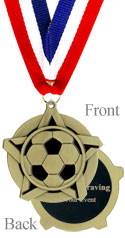 All Star Gold Soccer Medal