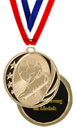 Black Star Soccer Medal