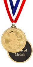 Bright Gold Soccer Medal