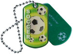 Soccer Epoxy Dome Tag