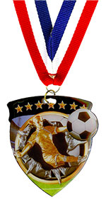 Soccer Shield Medal