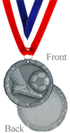 Antique Silver Soccer Medal