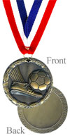 Antique Gold Soccer Medal