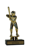 "6"" Softball Economy Trophy with Black Marble base"