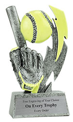 Glowing Softball Resin Trophy