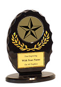 "5"" Oval 3-D Victory Star Award"