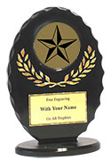"6"" Oval 3-D Victory Star Award"