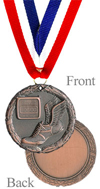 Antiqued Bronze Track Medal