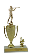 "10"" Trap Shooting Cup Trim Trophy"