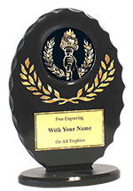 "6"" Black/Gold Oval Victory Award"