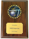 Volleyball Insert Plaque
