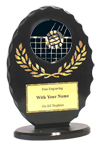 "6"" Black/Gold Oval Volleyball Award"